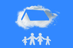 Composite image of cloud in shape of family Royalty Free Stock Image