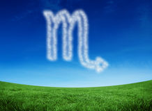 Composite image of cloud in shape of scorpio star sign Royalty Free Stock Photography