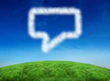 Composite image of cloud in shape of speech bubble Royalty Free Stock Photography