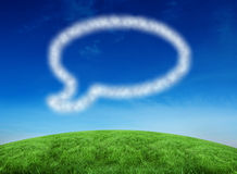 Composite image of cloud in shape of speech bubble Royalty Free Stock Images