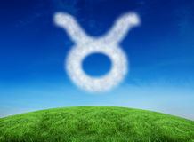 Composite image of cloud in shape of taurus star sign Royalty Free Stock Photos