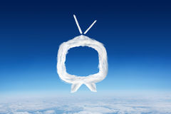 Composite image of cloud tv Stock Photo