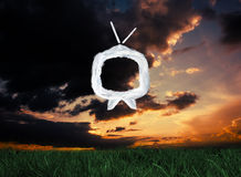 Composite image of cloud tv Stock Images