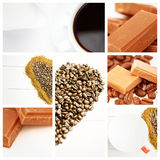 Composite image of coffee beans in heart shape Royalty Free Stock Image
