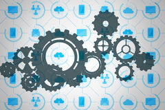 Composite image of cogs and wheels Royalty Free Stock Image