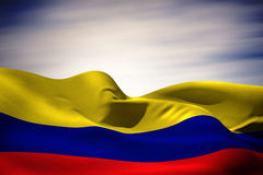 Composite image of colombia flag waving Stock Photography