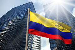 Composite image of colombia national flag Royalty Free Stock Photo