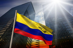 Composite image of colombia national flag Stock Photography