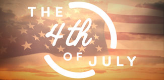 Composite image of colorful happy 4th of july text against white background Royalty Free Stock Images