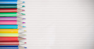 Composite image of coloured pencils royalty free stock images