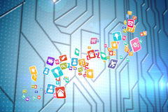 Composite image of colourful computer applications Royalty Free Stock Photo