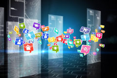 Composite image of colourful computer applications Stock Photos
