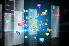 Composite image of colourful computer applications Stock Photography