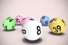 Composite image of colourful lottery balls Stock Image