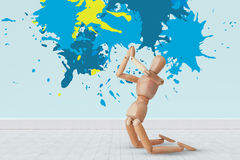 Composite image of colourful paint splashes Royalty Free Stock Photos
