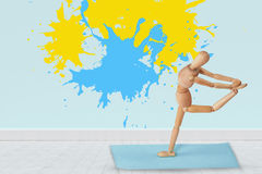 Composite image of colourful paint splashes Stock Image