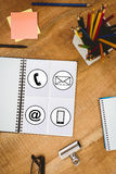Composite image of communication apps Stock Photo