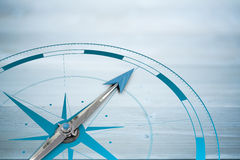 A Composite image of compass Stock Image