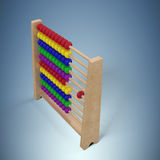 Composite image of composite image of abacus toy. Composite image of abacus toy against purple vignette Royalty Free Stock Images