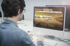 Composite image of composite image of build website interface Royalty Free Stock Photo