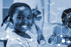 Composite image of composite image of chemical structure Royalty Free Stock Photography