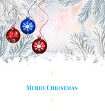 Composite image of Composite image of christmas card Stock Images