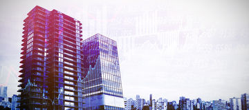 Composite image of composite image of3d office buildings Stock Photo