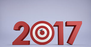 Composite image of composite image of numbers with bulls eye arrow Royalty Free Stock Images