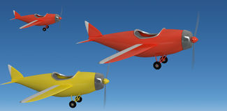 Composite image of composite image of plane icon 3d Royalty Free Stock Images
