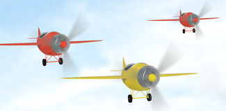 Composite image of composite image of plane icon 3d Stock Photography