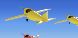 Composite image of composite image of plane icon 3d Stock Images