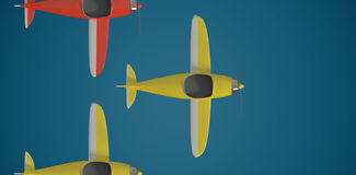 Composite image of composite image of plane icon 3d Royalty Free Stock Photos