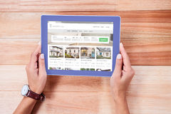 Composite image of composite image of property web page Stock Photography