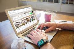 Composite image of composite image of property web site Stock Photography