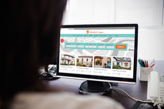 Composite image of composite image of property web site royalty free stock images