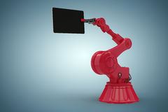 Composite image of composite image of robot holding computer tablet 3d Stock Photos