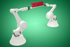 Composite image of composite image of robots with text 3d Stock Images