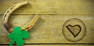 Composite image of composite image of st patrick day with harp symbol Royalty Free Stock Photo