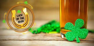 Composite image of composite image of st patrick day with horseshoe symbol 3d Stock Photography