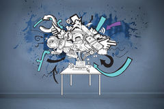 Composite image of computer brainstorm doodle Royalty Free Stock Photo