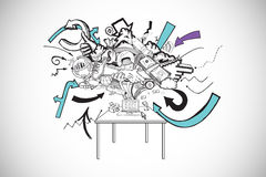 Composite image of computer brainstorm doodle Royalty Free Stock Image