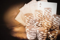 Composite image of computer generated 3d image of gambling chips royalty free illustration