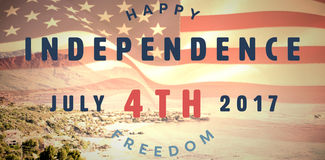 Composite image of computer graphic image of happy 4th of july text Stock Photography