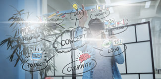 Composite image of concept flowchart Stock Photo