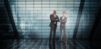Composite image of confident business team Royalty Free Stock Photo
