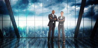 Composite image of confident business team Royalty Free Stock Photography