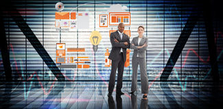 Composite image of confident business team Stock Photography