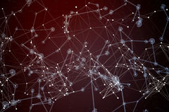 Composite image of constellation of stars. Constellation of stars against futuristic black background with lines royalty free stock photos