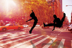 Composite image of cool break dancer Royalty Free Stock Photo