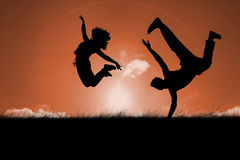 Composite image of cool break dancer Royalty Free Stock Photos